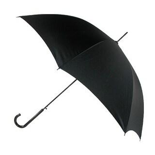 Leighton Auto Open Stick Umbrella with Crook Handle - Black - One size
