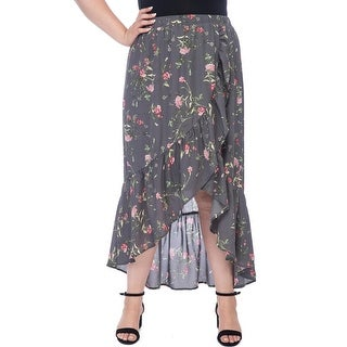 Bobeau Larz Plus Floral Skirt
