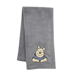 Disney Baby Forever Pooh Gray Bear Baby Blanket by Lambs & Ivy