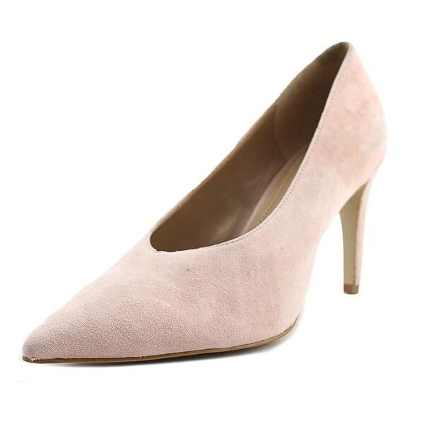 Gunmetal Vanna Women Pointed Toe Suede Pink Heels