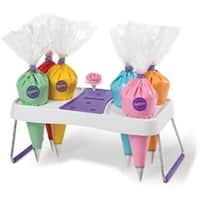 "White & Purple - Decorating Bag Holder 11""X6.75""X4.75"""