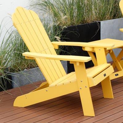 Yenna Yellow Plastic Adirondack Chair