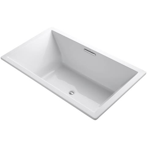 "Kohler K-1137-W1 Underscore 72"" Soaking Tub with Center Drain and Bask"