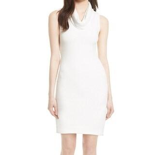 Alice + Olivia White Women's Size XS Cowl-Neck Sweater Dress