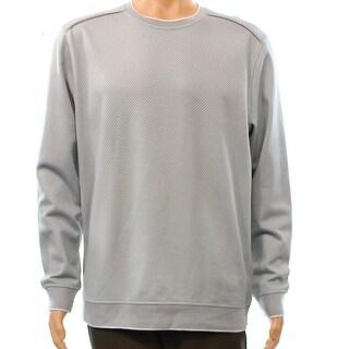 Tasso Elba NEW Gray Jacquard Knit Mens Size Small S Crewneck Sweater