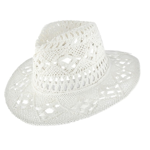 06daeb88f6097 Shop Jeanne Simmons Kids  Paper Woven Western Hat - Free Shipping On ...