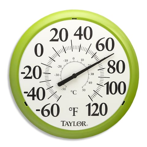 Taylor 6700GR Easy Read Big & Bold Dial Thermometer, Spring Green, 13.25""