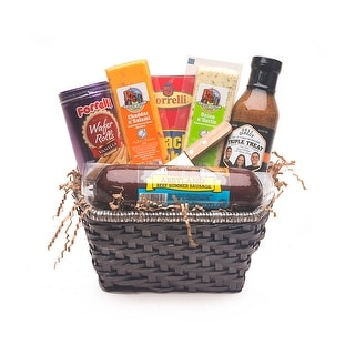 Link to 9pc Gourmet Summer Sausage and Cheese Gift Basket - Small - Multi Similar Items in Grocery