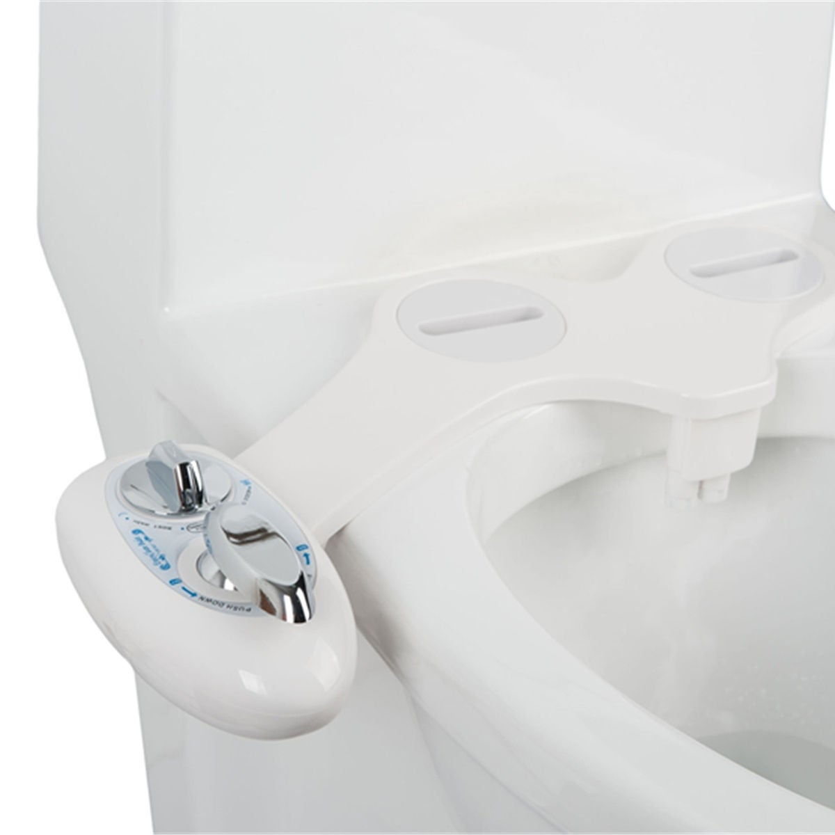 Shop Costway Fresh Water Spray Manual Non Electric Bidet Toilet Seat Attachment Flow Adjust Overstock 18004755