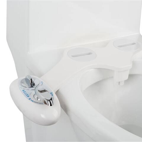 Costway Fresh Water Spray manual Non-Electric Bidet Toilet Seat Attachment Flow Adjust