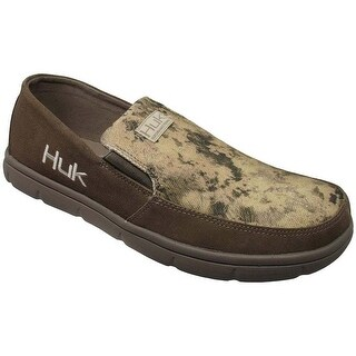 Huk Men's Brewster Subphantis Desert Size 13 Leather Slip On Shoes