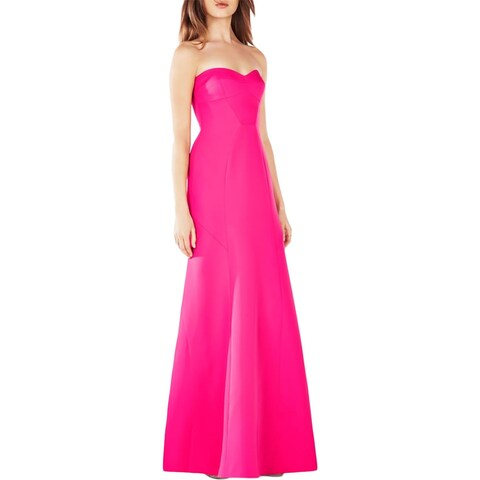 BCBG Max Azria Womens Surrey Evening Dress Geometric Strapless