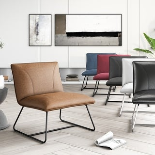Strick & Bolton Soloway Bonded Leather Lounge Chair