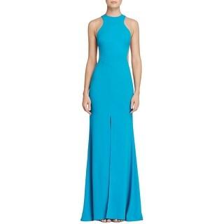 Nicole Bakti Womens Evening Dress Mesh Inset Sleeveless