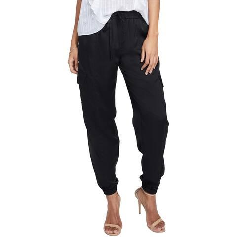 Rachel Roy Womens Flat Front Casual Cargo Pants, Black, Small