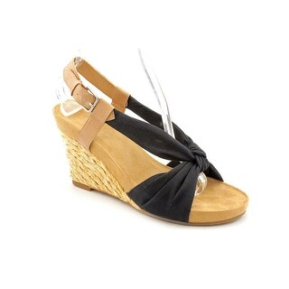 Aerosoles Plush Pillow Women Open Toe Canvas Wedge Sandal