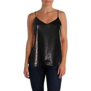Material Girl Womens Tank Top Sequined Adjustable Straps
