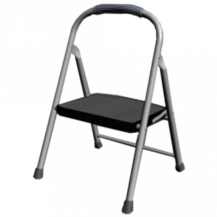 Stupendous Rubbermaid Rms 1 Single Step Steel Step Stool 225 Lbs Weight Capacity Onthecornerstone Fun Painted Chair Ideas Images Onthecornerstoneorg