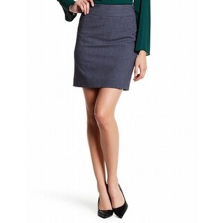 Amanda & Chelsea NEW Gray Womens Size 10P Petite Twill Pencil Skirt