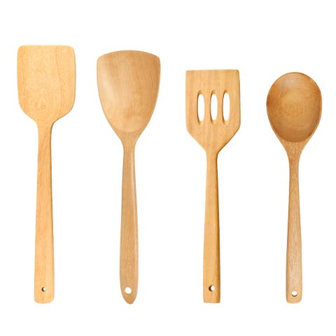 Handmade Cooking Essentials Frying Spatula Turner and Ladle Rain Tree Wooden Set (Thailand)