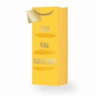 Cakewalk 7533 You Are Amazing Single-Bottle Wine Bag, Yellow
