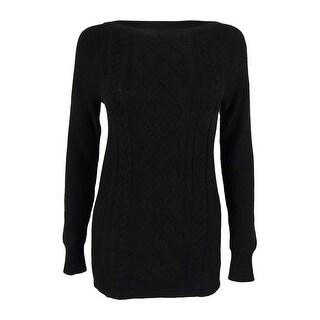 American Living Women's Cable Lattice Crewneck Sweater (Option: Xl)