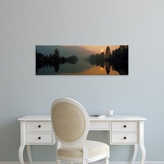 Easy Art Prints Panoramic Images's 'Reflection of trees in a river, Coeur d'Alene River, Idaho, USA' Premium Canvas Art