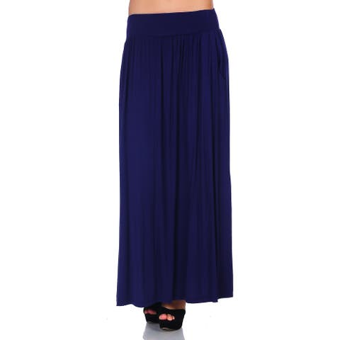 Simply Ravishing Women's Maxi Long Flare Skirt (Size: S-5X)