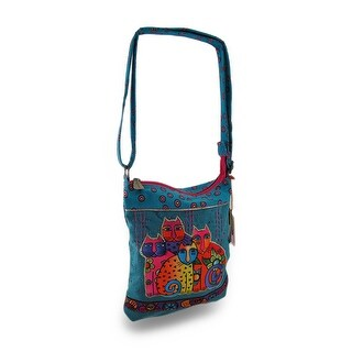 Laurel Burch Feline Clan Colorful Cross Body Bag - Multi-Colored