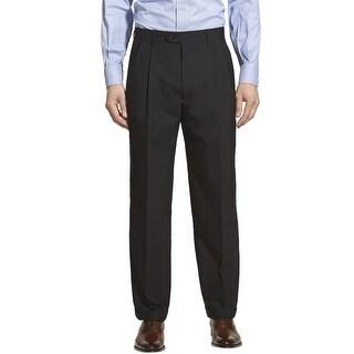 Ralph Lauren Double Pleated Front Dress Pants Black 36 x 32