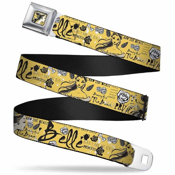 Belle Profile Sketch Full Color Light Yellow Black Belle Sketch Poses Seatbelt Belt