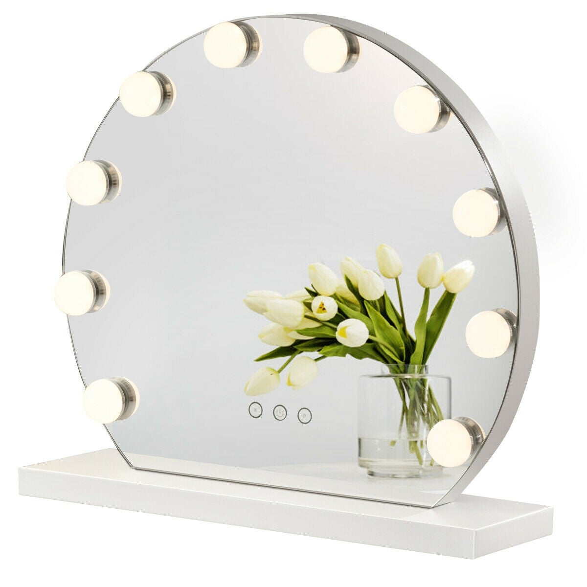 Costway Makeup Vanity Mirror With Light Hollywood Style Mirror 3 White Overstock 28255434
