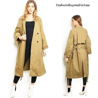 Link to Haute London Khaki Double Breasted Long Drapey Hunting Trench Coat Similar Items in Women's Outerwear