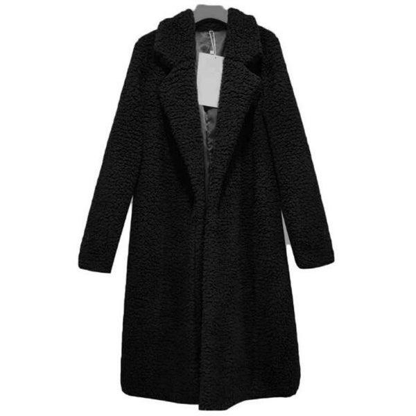 Womens Coat Fleece Fuzzy Winter Open Front Cardigan Sherpa Jacket Outerwear. Opens flyout.