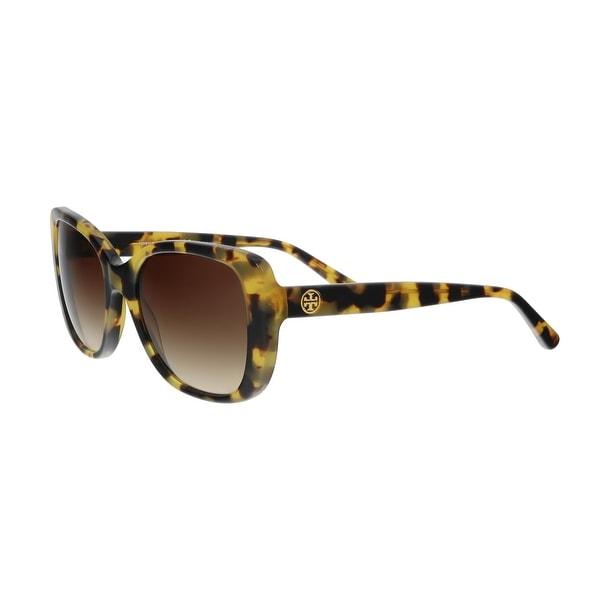 49ce8eb85740 Shop Tory Burch TY7114 149974 Tokyo Tortoise Square Sunglasses - 53 ...