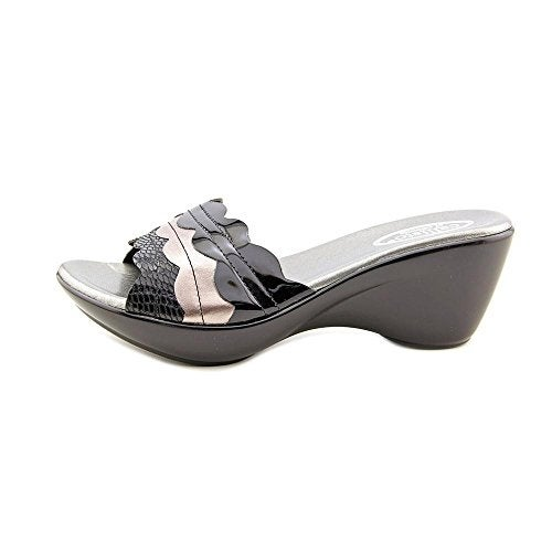 Callisto Womens CIRCE Leather Open Toe Casual Slide Sandals