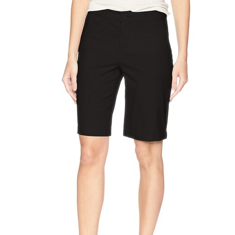 NYDJ Deep Black Womens Size 2 LiftxTuck Bermuda Walking Shorts