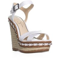 Jessica Simpson Aeralin Wedge Slingback Sandals, Bright White