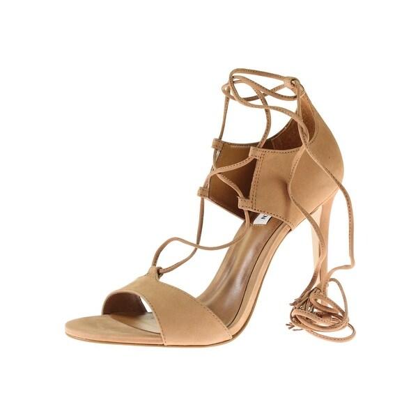 Steve Madden Womens Sanibell Dress Sandals Nubuck Ankle Wrap - 9.5 medium (b,m)