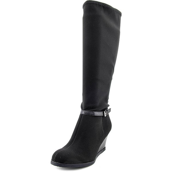 Lauren Ralph Lauren Tula   Round Toe Canvas  Knee High Boot