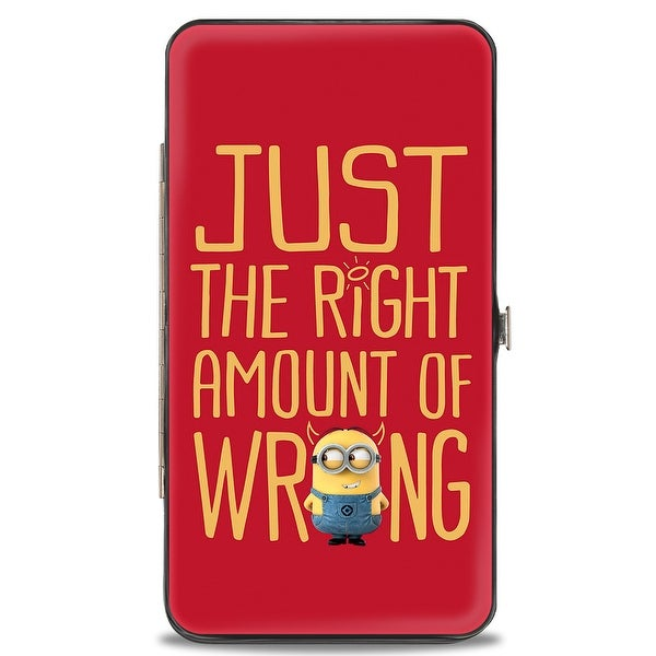 Minion Devil Just The Right Amount Of Wrong Red Gold Hinged Wallet - One Size Fits most