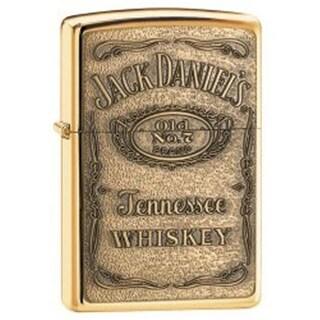 Zippo Windproof Jack Daniels Label Brass Emblem Pocket Lighter