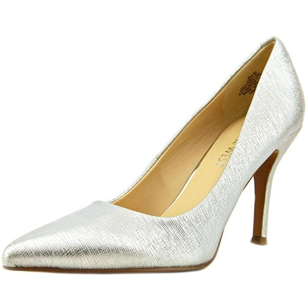 Nine West Flax Pointed Toe Leather Heels