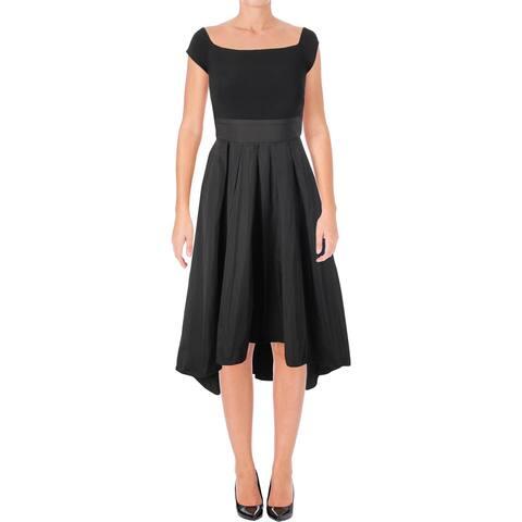 1e44096918716 Lauren Ralph Lauren Womens Petites Orinda Party Dress Cap Sleeves Mixed  Media