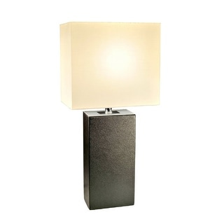 """All the Rages LT1025 Elegant Designs 21"""" Height 1 Light Table Lamp with Rectangle Shade"""