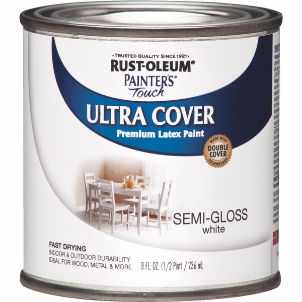 RustOleum S/G White Latex Paint