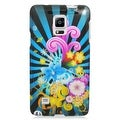Insten Colorful Fireworks Hard Snap-on Rubberized Matte Case Cover For Samsung Galaxy Note 4 - Thumbnail 2