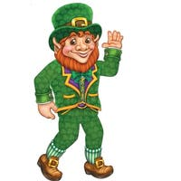 Club Pack of 12 St Patrick's Day Jointed Leprechaun Figure Decorations 2.75' - Green