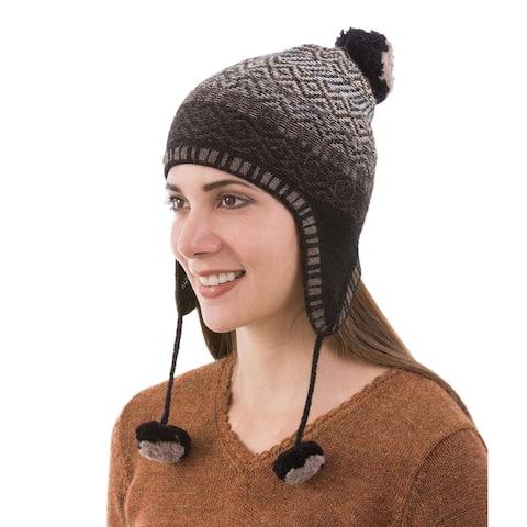 NOVICA Mahogany Brown Andean Pride Wool chullo hat