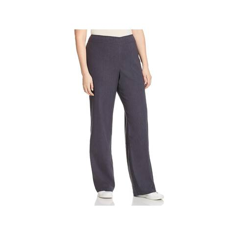 Nic + Zoe Womens Traveling Casual Pants Linen Blend Mid-Rise